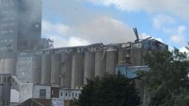 Grain silo explosion