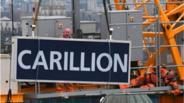 A Carillion sign on a building site in the City of London