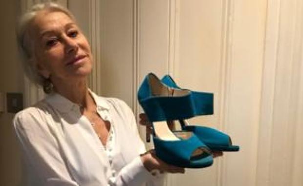 Helen Mirren with shoes