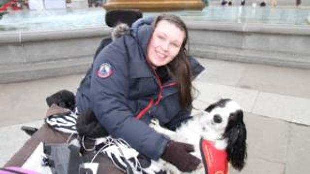 Lucy Watts with her support dog Molly