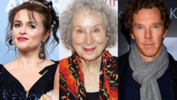 Helena Bonham Carter, Margaret Atwood and Benedict Cumberbatch