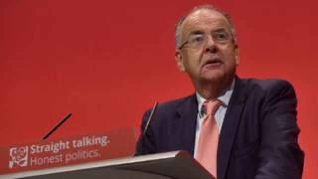 Lord Falconer, Shadow Secretary of State for Justice and Shadow Lord Chancellor, makes a speech at the Labour Party Conference
