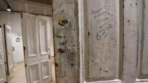 Door to a room used by Humphrey Bogart