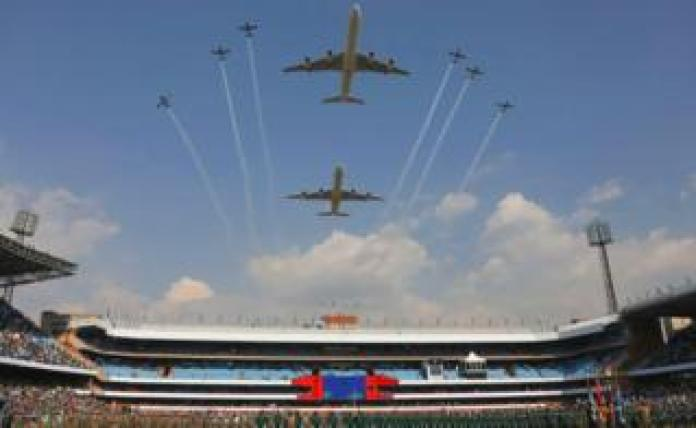 Planes in the sky above the stadium - Saturday 25 May 2019