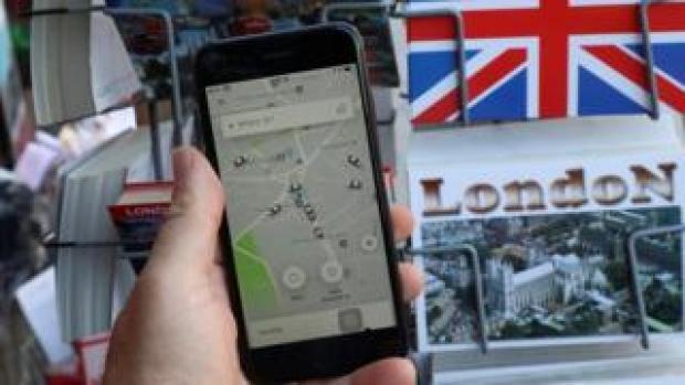 Uber user in London