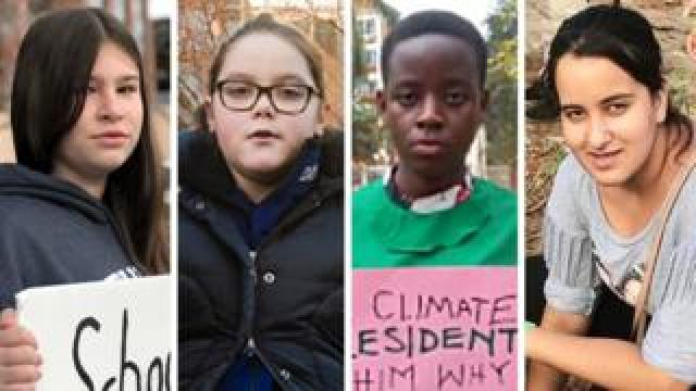 Four young climate activists