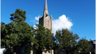 'Act of God' leaves Donegal church under threat - BBC News