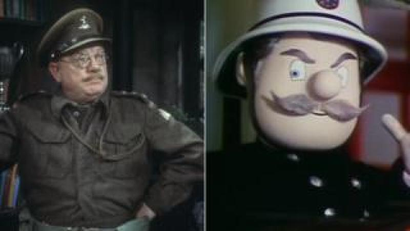 Captain George Mainwaring and Station office Steele