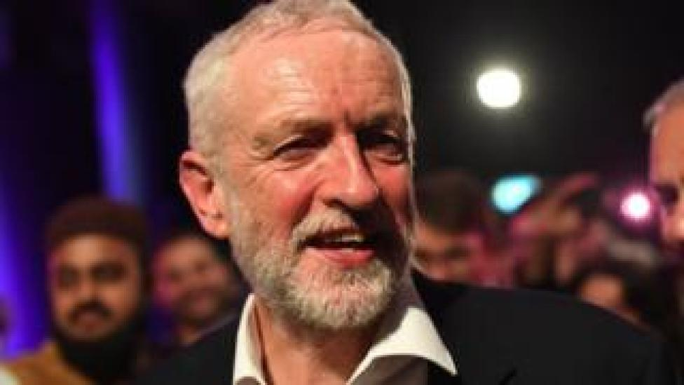 Jeremy Corbyn after speaking at an event in London