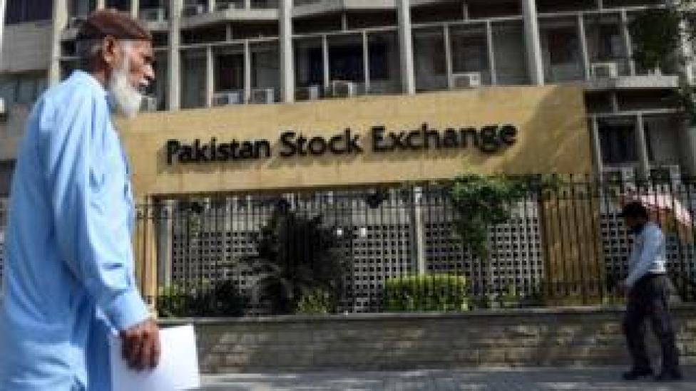 Pakistan Stock Exchange in Karachi (file photo)