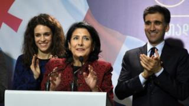 Salome Zurabishvili in Tbilisi on 28 Nov 2018