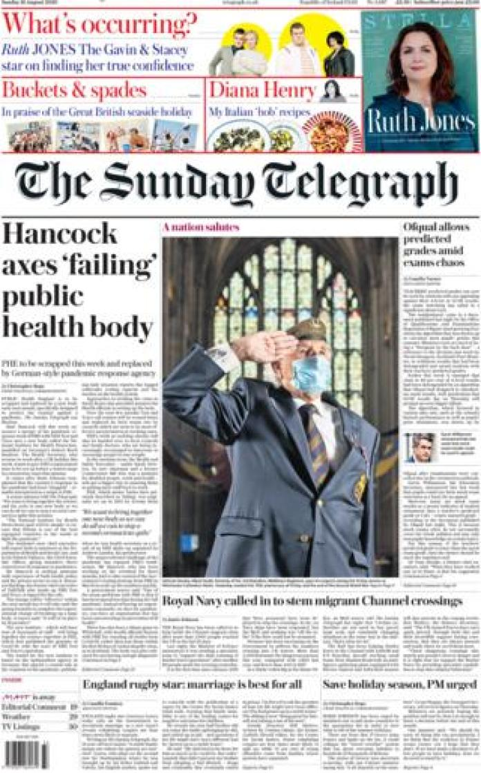 The Sunday Telegraph front page August 16, 2020