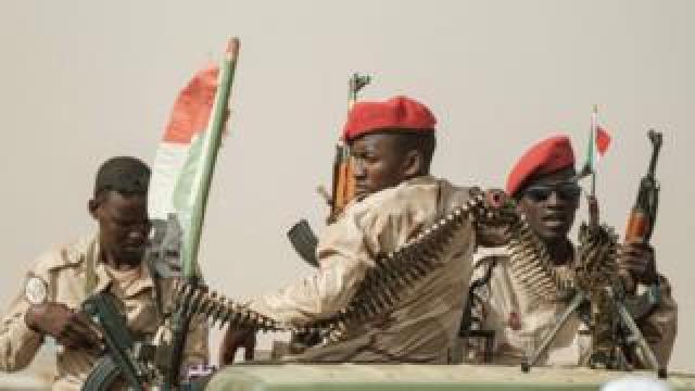 RSF soldiers in Sudan