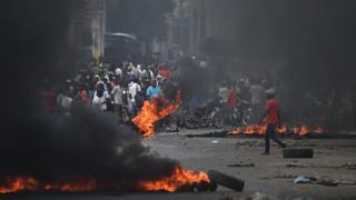 Protestors in Haiti's capital Port-au-Prince