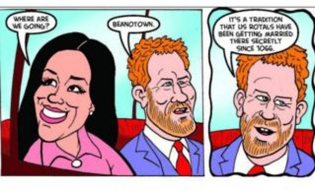 Beano with Meghan Markle and Prince Harry