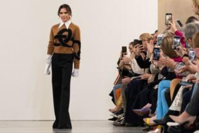 Victoria Beckham at this year's London Fashion Week