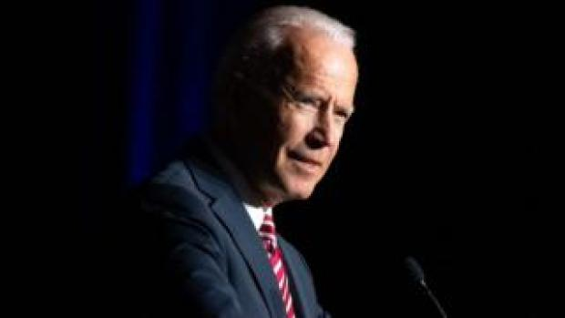 Former US vice president Joe Biden speaking at an event in Delaware, March 2019