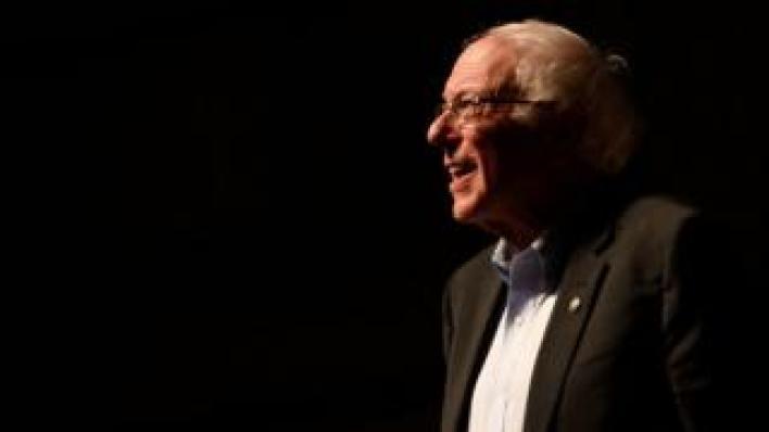 Democratic presidential candidate Senator Bernie Sanders (I-VT)
