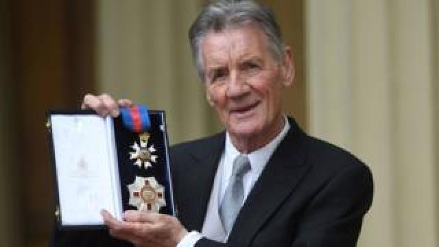 Michael Palin after receiving his knighthood