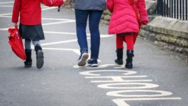 Children outside school