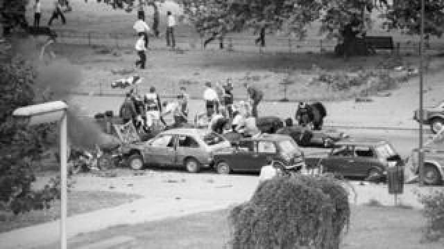 Hyde Park bomb aftermath