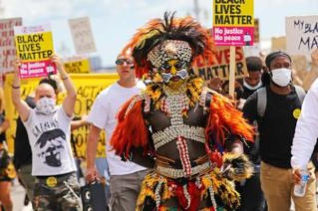 BLM protest in Brighton