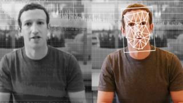 A comparison of an original and deepfake video of Facebook CEO Mark Zuckerberg.
