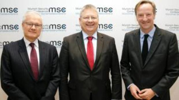 Spy chiefs, from left: Bernard Emie, of France's DGSE, Bruno Kahl, of Germany's BND, and Alex Younger, of MI6