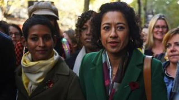 Samira Ahmed (right) and Naga Munchetty