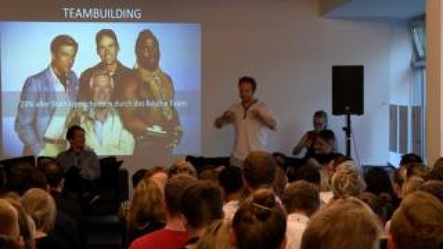 Max Riedel speaking