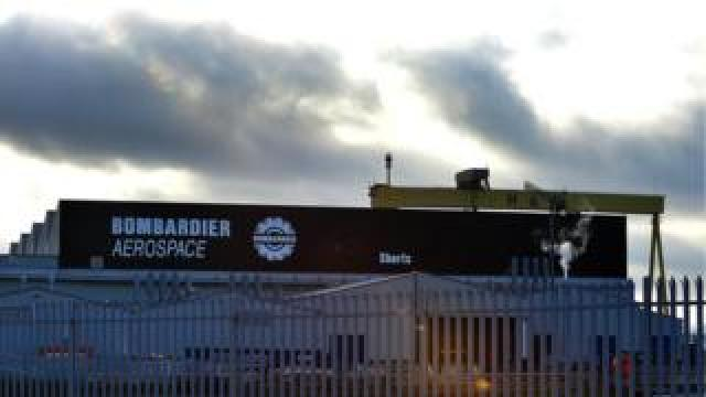 Bombardier factory in east Belfast
