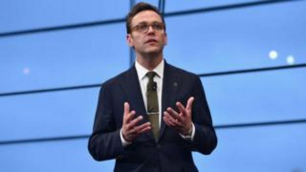 : CEO of 21st Century Fox James Murdoch speaks at National Geographic's Further Front Event at Jazz at Lincoln Center on April 19, 2017 in New York City.