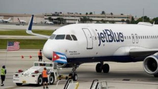 JetBlue Flight 386 departs for Cuba on 31 Aug 16 from Fort Lauderdale, Florida
