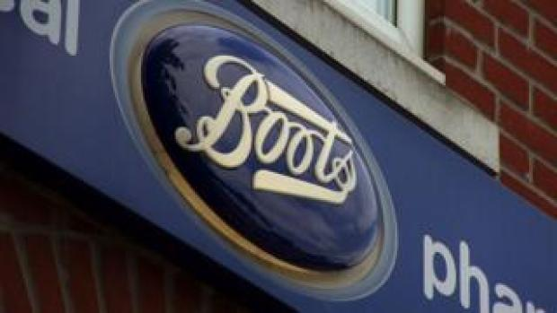 Boots sign outside store