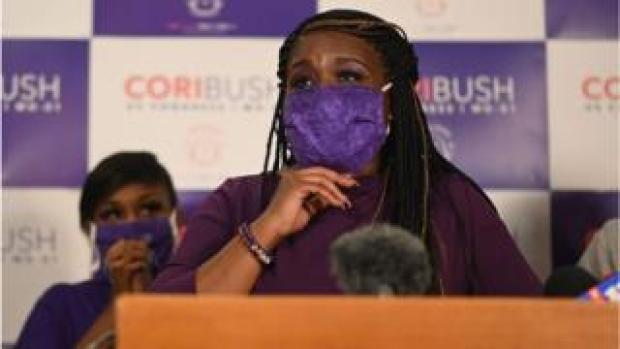 Cori Bush delivers her victory speech