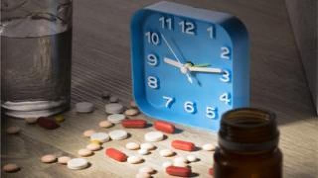 clock and pills