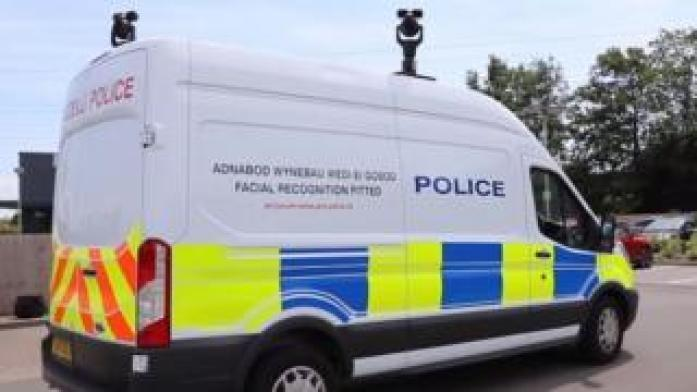 Police van equipped with facial recognition technology