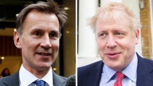 Composite of Jeremy Hunt and Boris Johnson