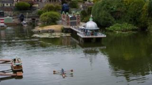 Bekonscot boating lake