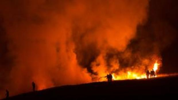 Marsden moor fire