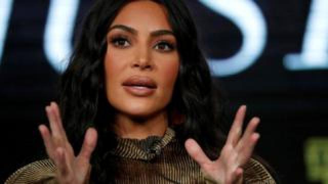 Television personality Kim Kardashian West