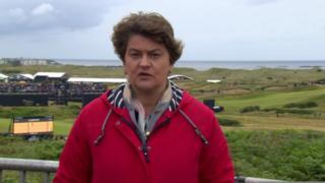 Arlene Foster was speaking on BBC's Sunday Politics from Portrush, where The Open golf tournament is being staged