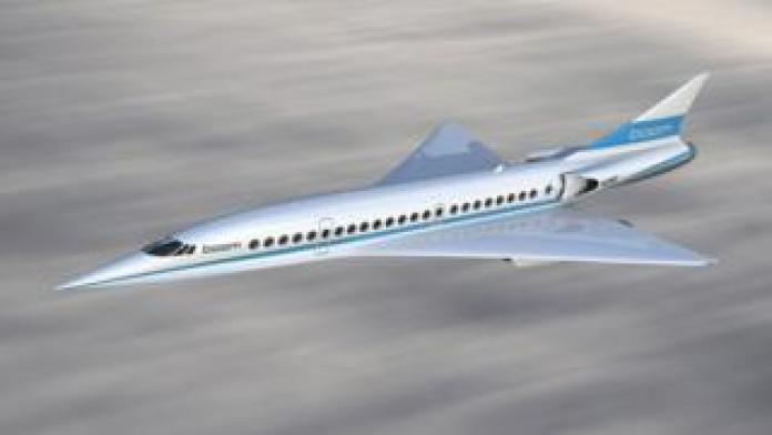 An artist's rendition of Boom Supersonic's planned airliner