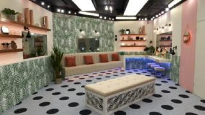 The bathroom in the Celebrity Big Brother 2018 house