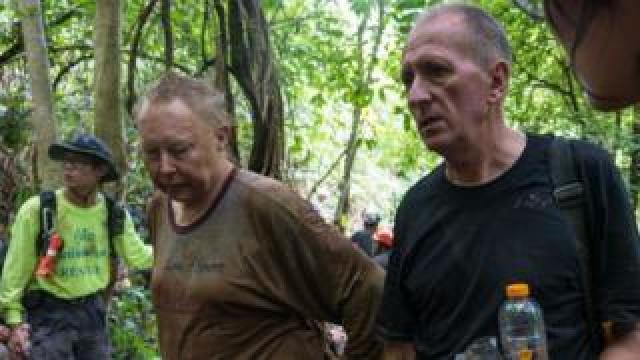Vern Unsworth (right) helped bring top international cave rescuers to the mission, including Rob Harper (left)