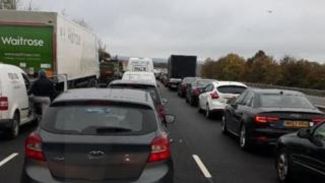 The crash caused 70 minute delays northbound