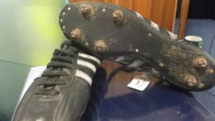 Gemmell wore the boots to score during Celtic's historic European Cup triumph