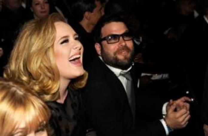 Adele and Simon Konecki at the Grammy Awards 2013
