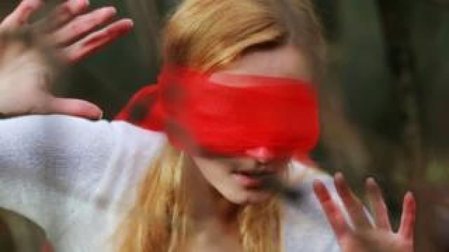 File image of blindfolded woman