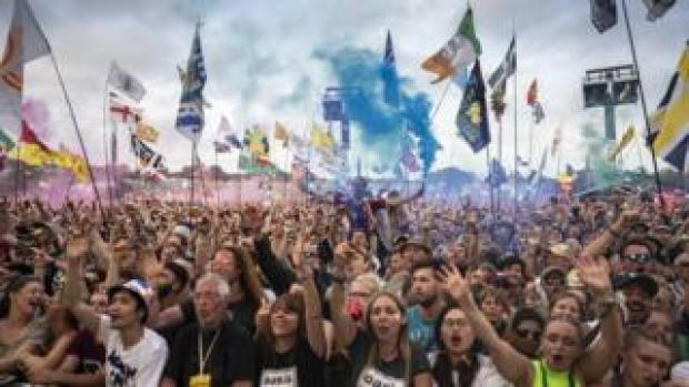 Crowds at the 2019 Glastonbury Festival